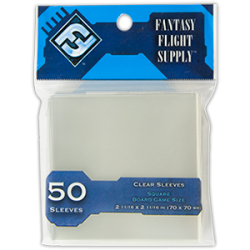 Clear Sleeves Square Board Game Size (50) - FFG