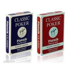 Cartes de Poker Classique - Cartes plastifiées