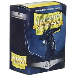 Sleeves Dragon Shield (100) - Jet Matte