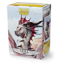 Sleeves Dragon Shield (100) - Qoll Art
