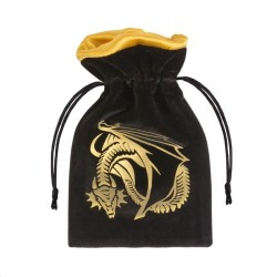 Dice Bag - Dragon Black and Gold
