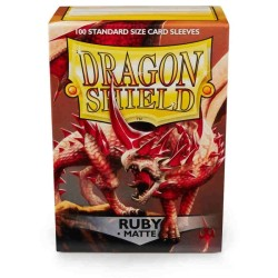 Sleeves Dragon Shield (100) - Ruby Matte