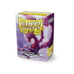 Sleeves Dragon Shield (100) - Clear Purple Matte