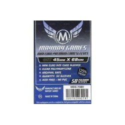 Clear Sleeves Mini Size (100) - Mayday Games (45x68 mm)