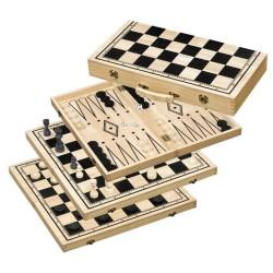 Backgammon / Échecs / Dames
