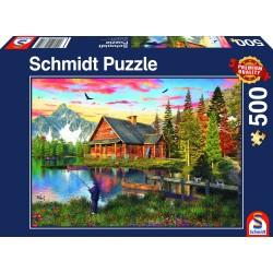 Puzzle - Maison en pleine montagne - 500 pièces