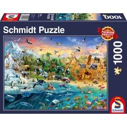 Puzzle 1'000 pièces - Le monde des animaux