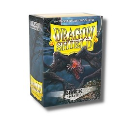 Sleeves Dragon Shield (100) - Black Matte