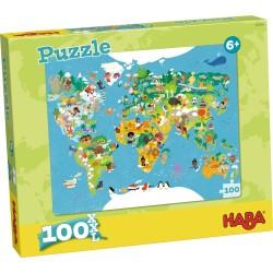 Puzzle 100 pièces XXL - Monde