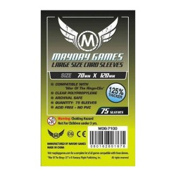 Clear Sleeves Tarot Size Premium (75) - Mayday Games (70x120 mm)