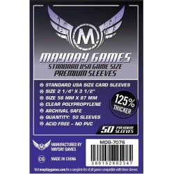 Clear Sleeves Standard American Board Game Size Premium (100) - Mayday Games (56x87 mm)