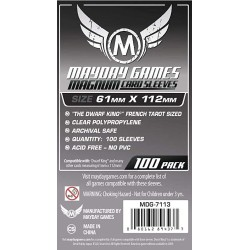Clear Sleeves - Magnum Card (100) - Mayday Games (61x112 mm)