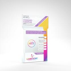 Clear Matte Sleeves - Standard European Card (60) - Gamegenic (62x94 mm)