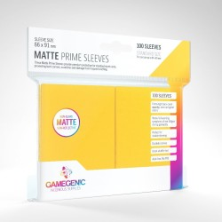 Matte Prime Sleeves Jaune - Premium Standard Card (100) - Gamegenic (66x91 mm)