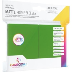 Matte Prime Sleeves Vert - Premium Standard Card (100) - Gamegenic (66x91 mm)