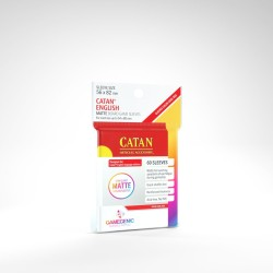 Clear Sleeves - Catan English Card (60) - Gamegenic (56x80 mm)