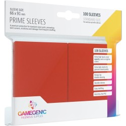 Matte Prime Sleeves Rouge - Premium Standard Card (100) - Gamegenic (66x91 mm)