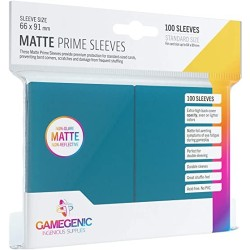 Matte Prime Sleeves Bleu - Premium Standard Card (100) - Gamegenic (66x91 mm)