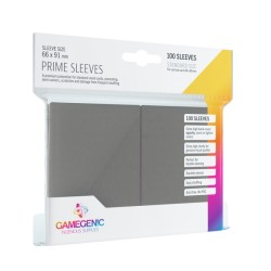 Matte Prime Sleeves Gris - Premium Standard Card (100) - Gamegenic (66x91 mm)