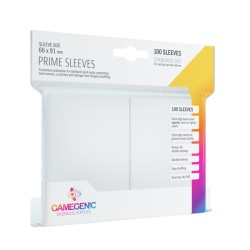 Matte Prime Sleeves Blanc - Premium Standard Card (100) - Gamegenic (66x91 mm)