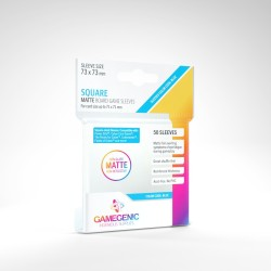 Matte Clear Sleeves - Big Square Card (50) - Gamegenic (71x71 mm)