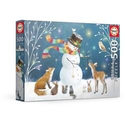 Puzzle 500 pièces - Snowman and Friends