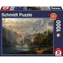 Puzzle 150 pièces - Princesse avec licorne et château