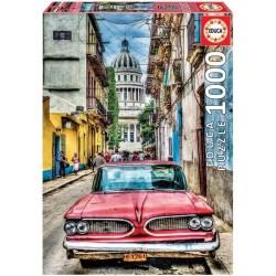 Puzzle 1'000 pièces - Voiture de la Havane