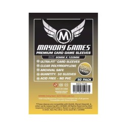 Clear Sleeves - Magnum Card Premium (50) - Mayday Games (80x120 mm)