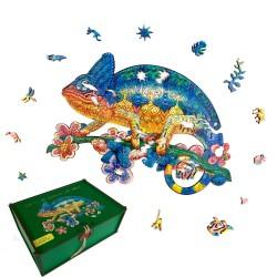 Puzzle créatif - Le caméléon aventurier
