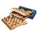 Coffret d'échecs de voyage, case 17 mm - magnétique