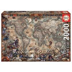 Puzzle 2'000 pièces - Carte des pirates