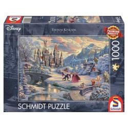 Puzzle 1'000 pièces -  Disney La beauté et la bête le rêve d'hiver