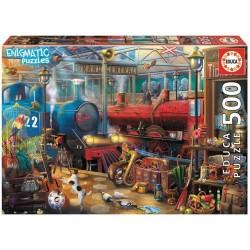 Puzzle 500 pièces - Enigmatic Puzzle : Bibliothèque