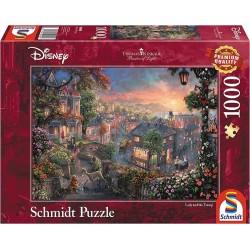 Puzzle 1'000 pièces - La belle et le clochard