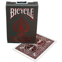 Carte à jouer - Bicycle Foil Back Crimson 54 cartes