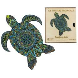 Puzzle créatif - Tortue tropicale