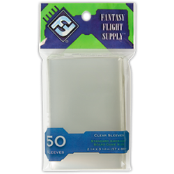 Standard American Board Game Cards Clear Sleeves (50) - FFG